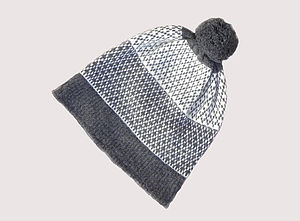 Fair Isle Lambswool Bobble Hat - hats