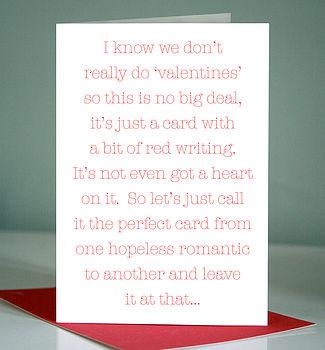 Hopeless Romantic Card
