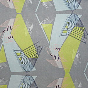 Architecture Cotton Fabric - throws, blankets & fabric