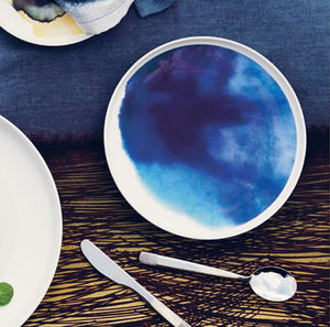 Watercolours Contemporary Dining Plate - watercolour styling for weddings