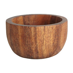 Acacia Wooden Egg Cup Or Salt Bowl