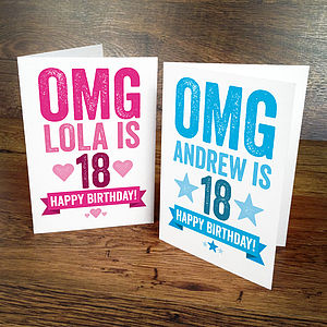 Omg Personalised 18th Birthday Card