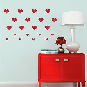 Pattern Hearts Wall Stickers - decorative accessories