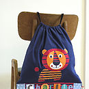 Personalised Childrens Tiger Bag