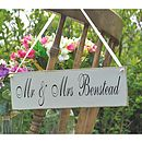 Wedding Home Gift Vintage Sign Personalised