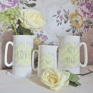'Love Is All You Need' Jug Set - table decorations