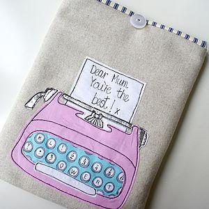 Personalised Typewriter iPad Case - laptop bags & cases