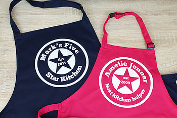 Personalised Est Apron Set