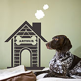 Personalised Dog House Wall Sticker - pets