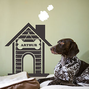 Personalised Dog House Wall Sticker - wall stickers