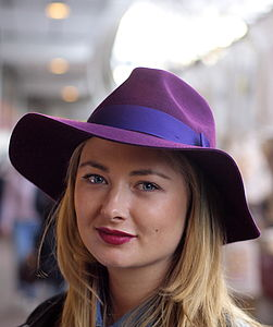 Grande Fedora With Tonal Ribbon