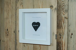 Personalised Framed Love Heart