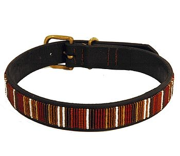 Medium Beaded Dog Collar