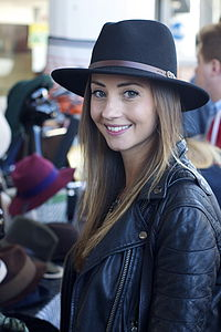 Black Belted Fedora - womens
