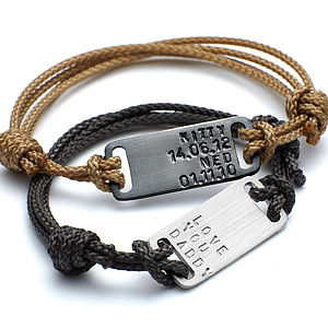 Men's Id Plate Bracelet - gifts by category