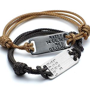 Men's Id Plate Bracelet - distinctive dad jewellery