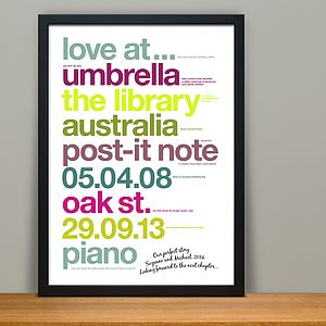 Personalised 'Our Perfect Story' Anniversary Print - pictures & prints for children