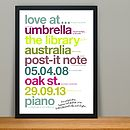 Personalised 'Our Perfect Story' Anniversary Print