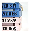Children's Personalised Crate Gift Box