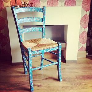 Papered Decopatch Chair - kitchen