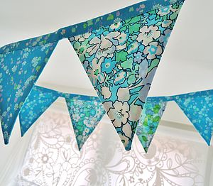 Liberty Of London Handmade Mini Bunting - outdoor decorations