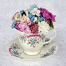 Eternal Flowers In Vintage Tea Cup