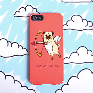 Pug Love Dog Phone Case For iPhone Or Samsung Galaxy