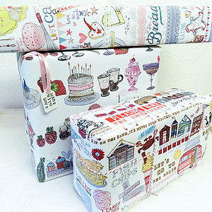 Recycled Wrapping Paper Three Sheets