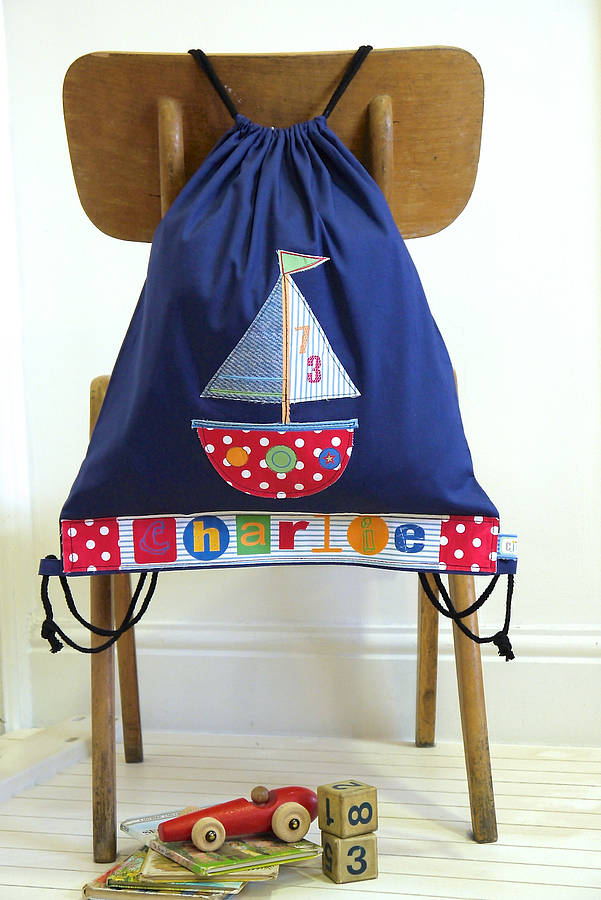 personalised boat drawstring bag by constantine jo ...