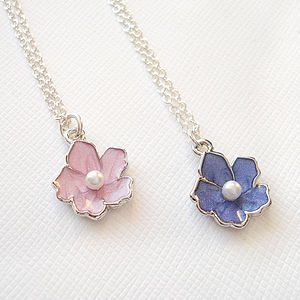 Childrens Pearl Blossom Necklace - necklaces