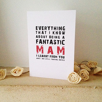 Being A Fantastic Mam Card