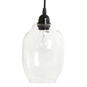 Clear Glass Lamp Shade - ceiling lights