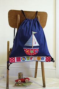 Personalised Boat Drawstring Bag - children's accessories