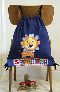 Personalised Childrens Lion Bag