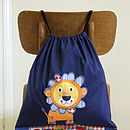 Personalised Lion Cotton Bag