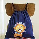 Personalised Lion Cotton Bag