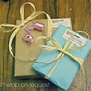 Free gift wrap on request