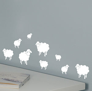Mini Sheep Wall Stickers - wall stickers