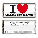 Personalised 'I Heart' Chocolate Bar