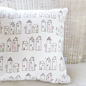 Neighbourhood Linen Cushion - children's room