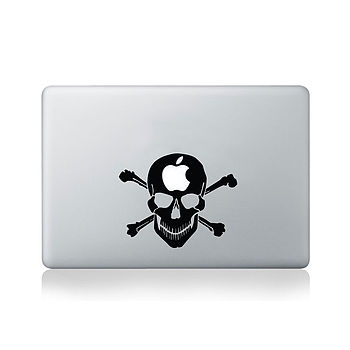 Skull With Apple On The Mind Vinyl Decal