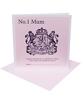 Royalty Mother's Day Card Personalised