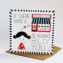 Personalised Husband Shop Valentine's Card