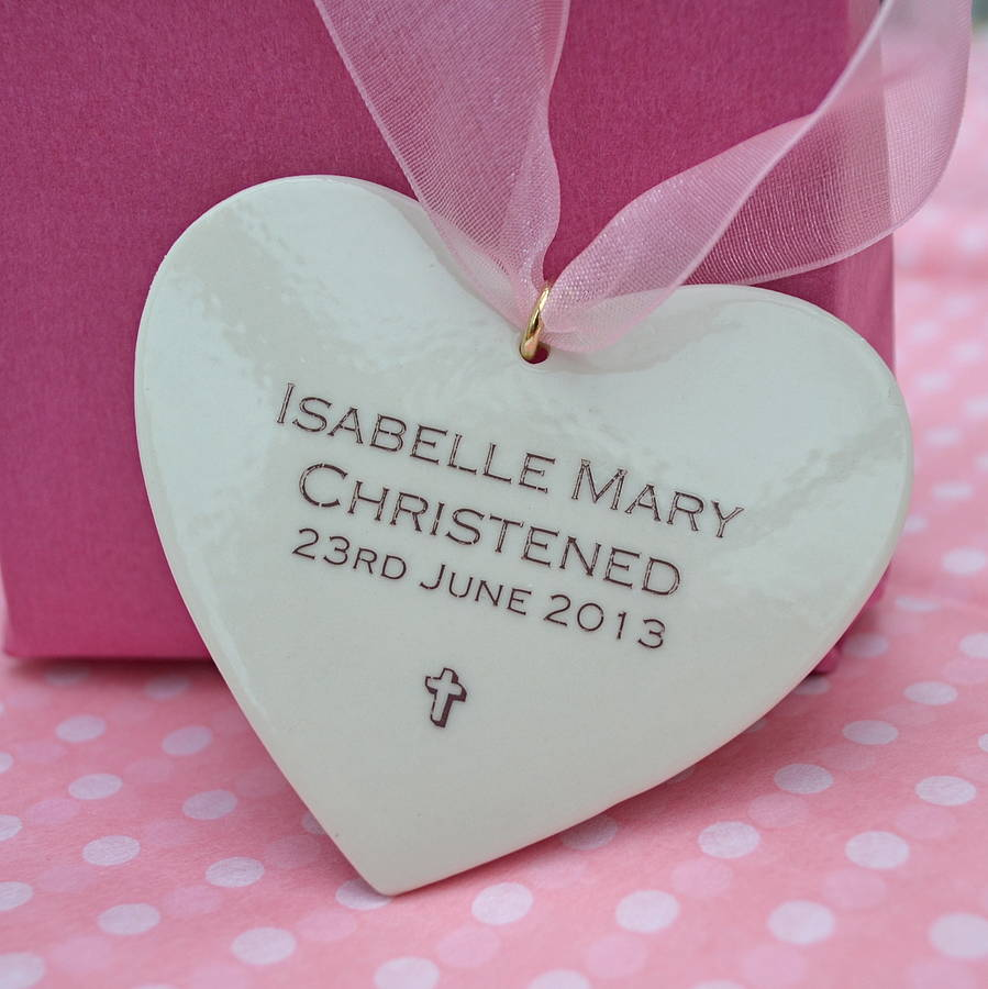 personalised baby girl christening keepsake by carys boyle ceramics