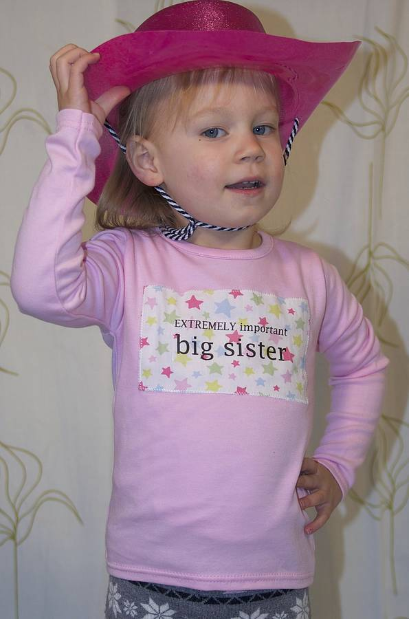 Girl's Big Sister T Shirt