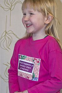 Girl's 'What Happens At Nursery' T Shirt