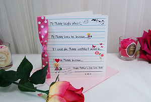 Love Notes Mother's Day Card Personalised - mother's day cards
