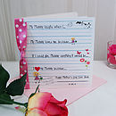 Love Notes Mother's Day Card Personalised