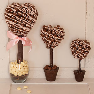 Chocolate Heart Sweet Tree With Pink Drizzle - view all mother's day gifts