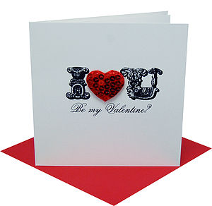 I Heart You Personalised Valentine's Card